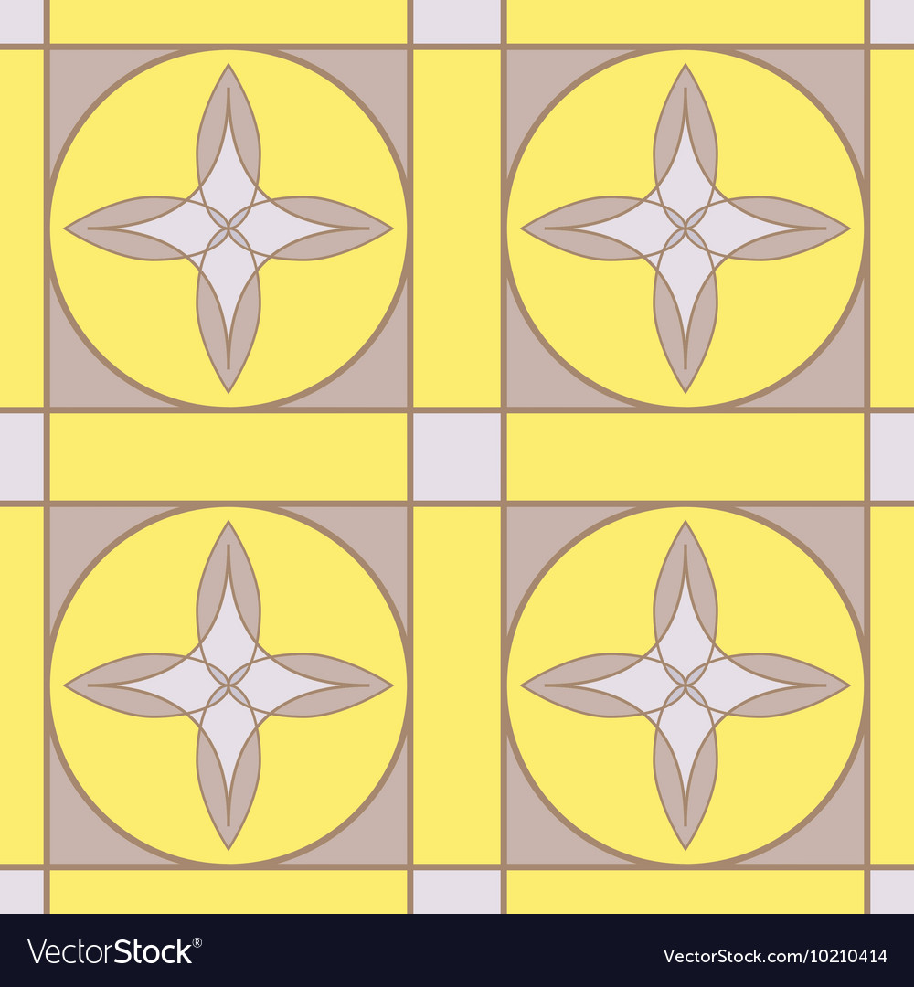 Stained glass Seamless geometric ornament