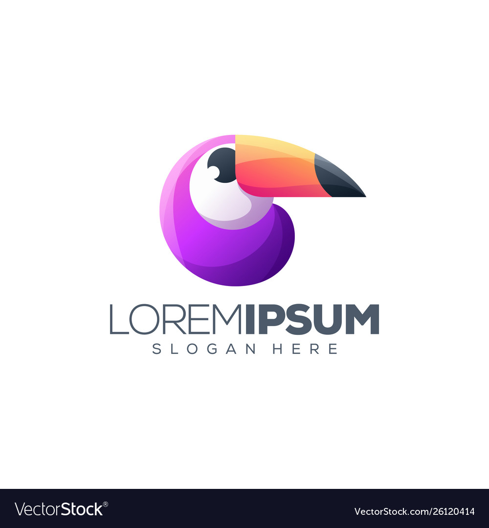 Toucan colorful logo design