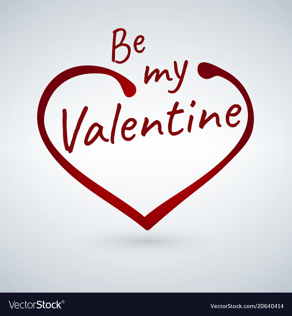 Valentine s card with heart sign and be my