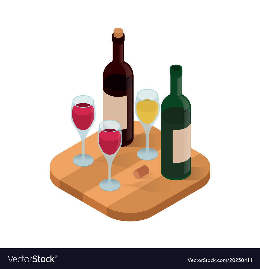 Wine tasting isometric