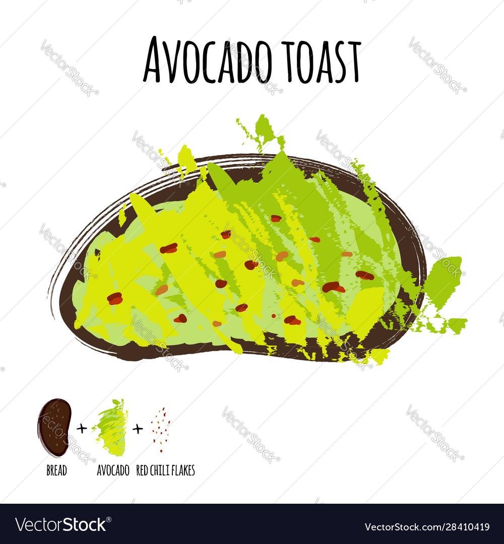 Avocado toast or whole grain