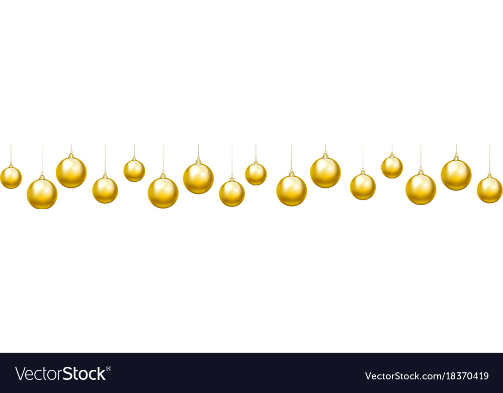 Baubles border vector image