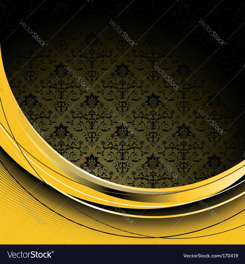 Black and yellow background vector image