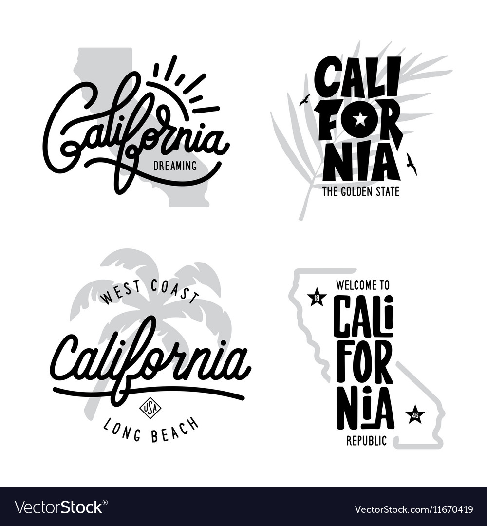 California Related T Shirt Vintage Style Graphics Vector Image