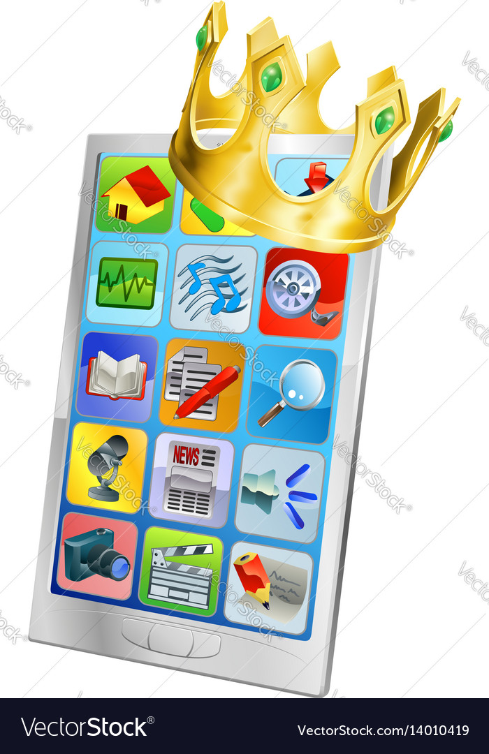 Cell phone king vector image