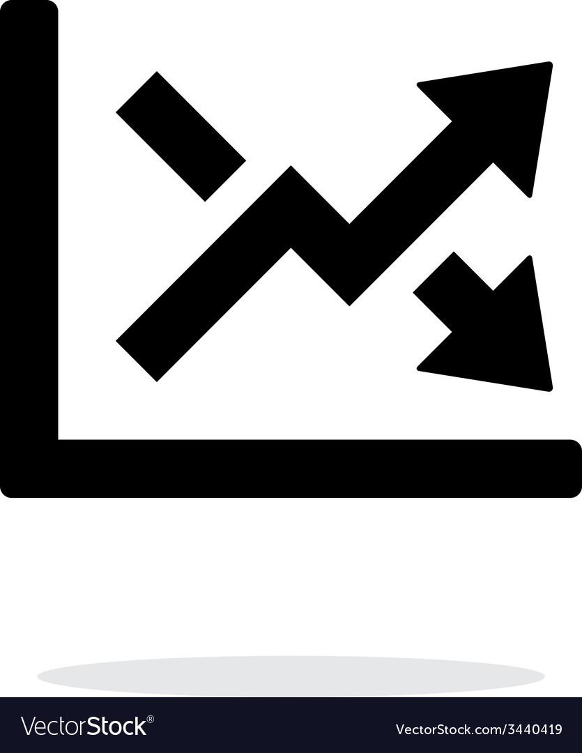 Charts icon on white background