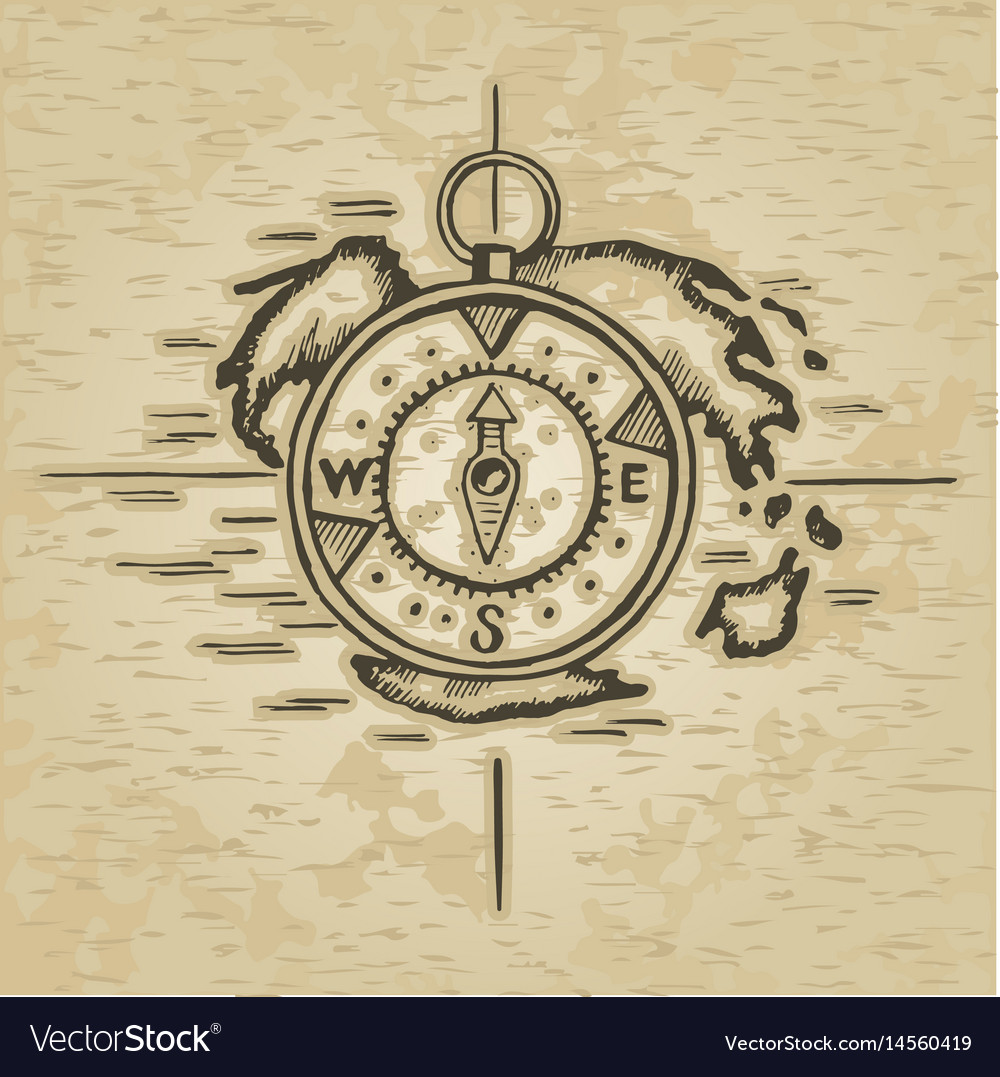Doodle style compass