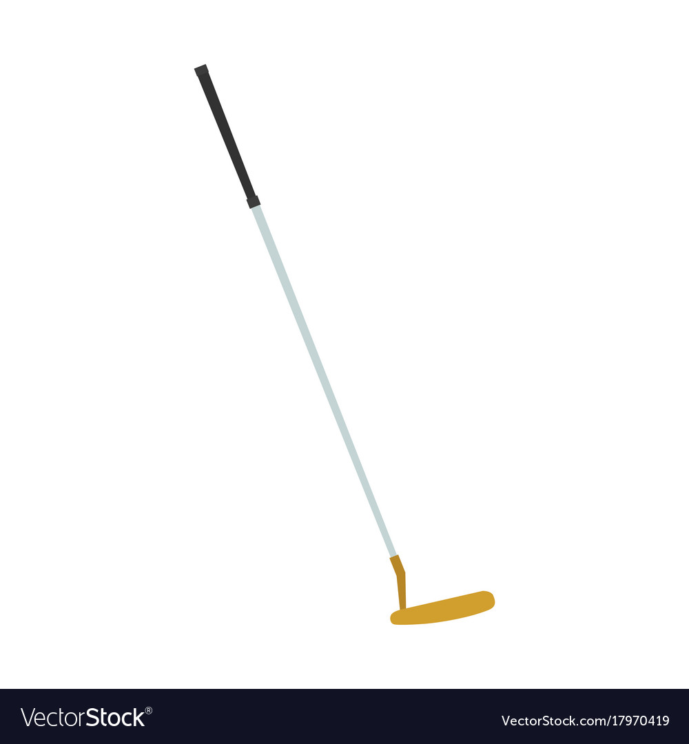 Golf club putter icon sport isolated ball vector image