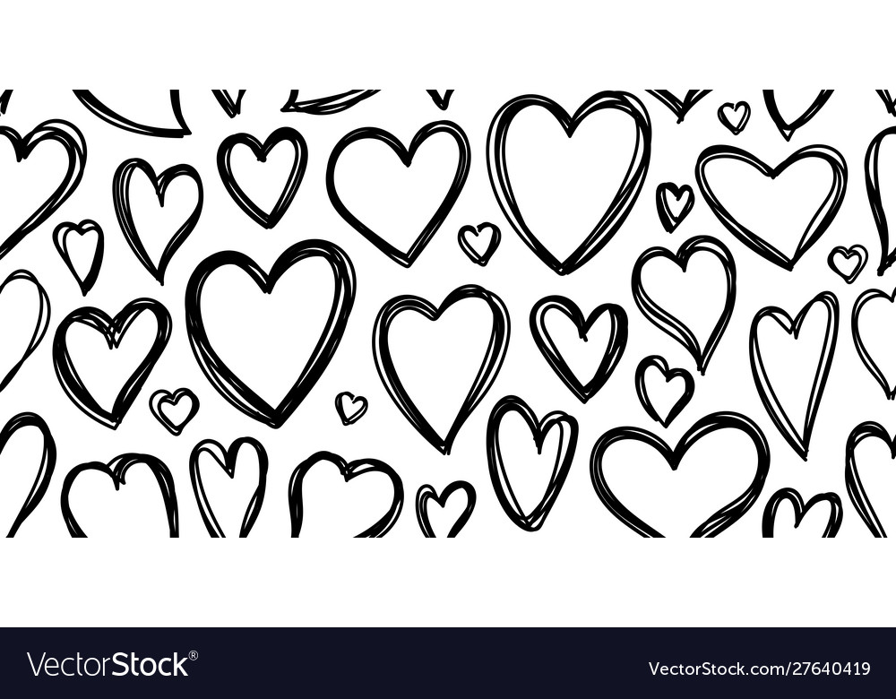 Heart love valentines day seamless pattern