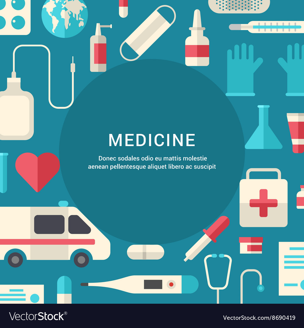 Medicine Concept Flat Style with Place for Text