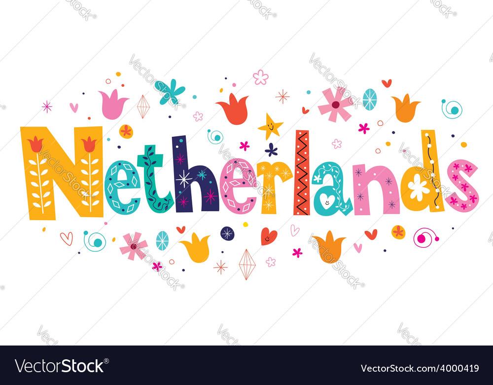 Netherlands Holland decorative lettering