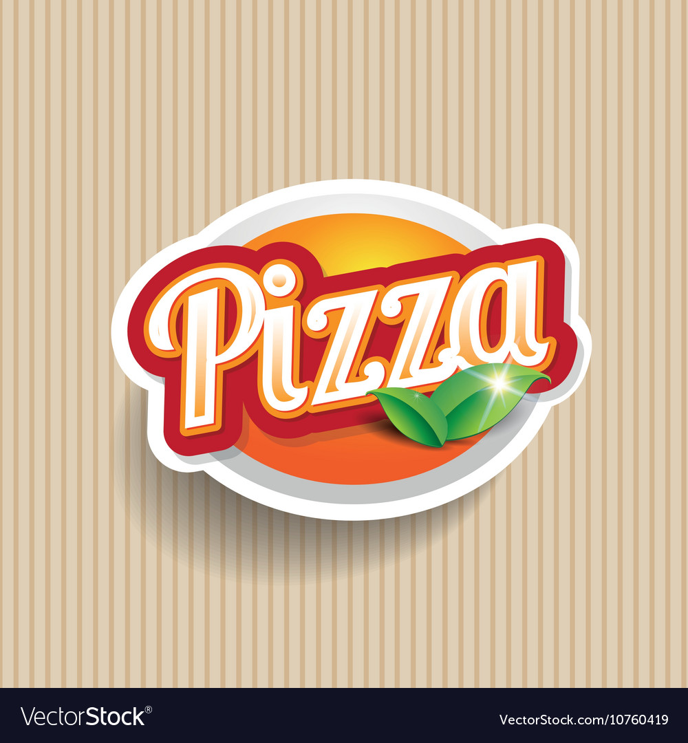 Pizza lettering