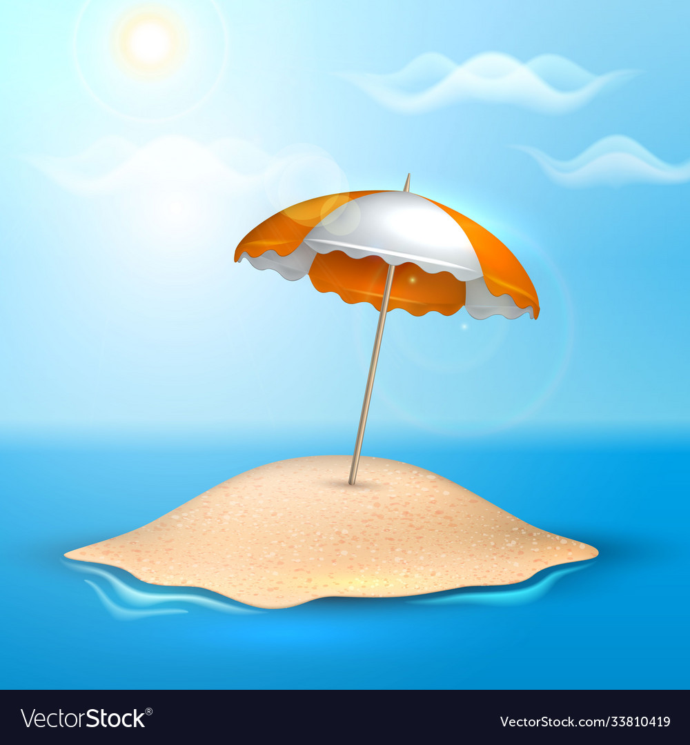 Summer vacation realistic 3d poster