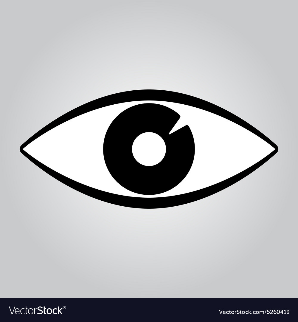 The Eye Icon Eye Symbol Flat Royalty Free Vector Image