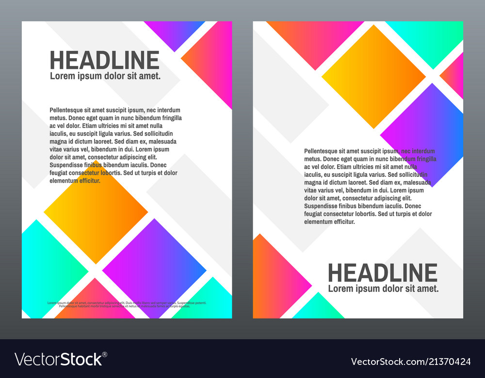 Cover design templates with bright gradients