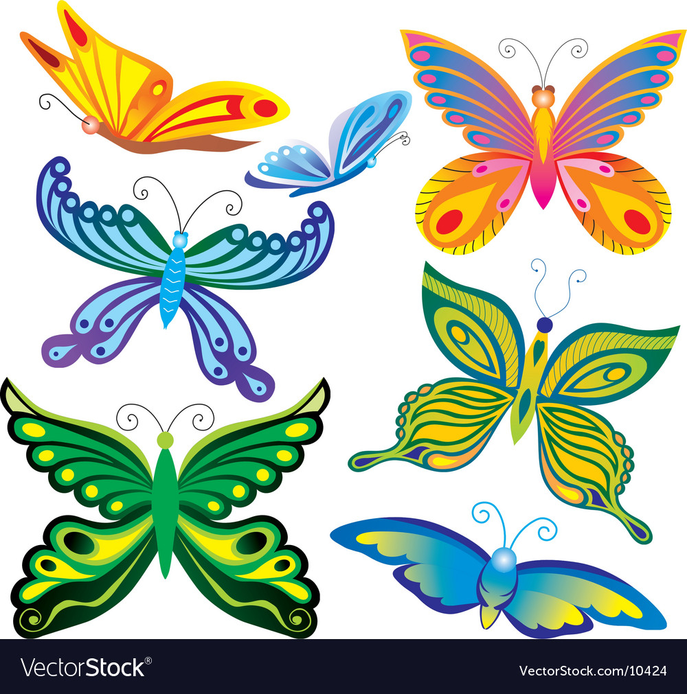 Decorative Butterflies Royalty Free Vector Image