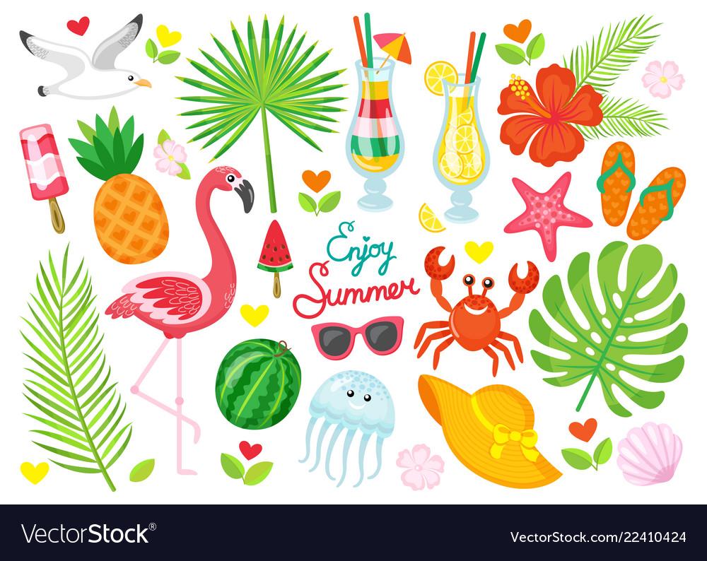 Enjoy summer poster items set