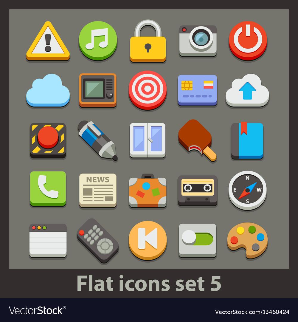 Flat icon-set 5