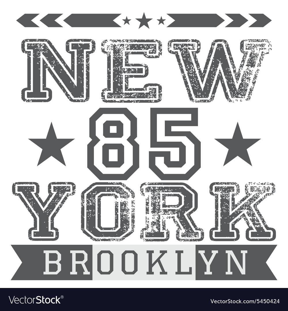 New York City retro vintage typography poster