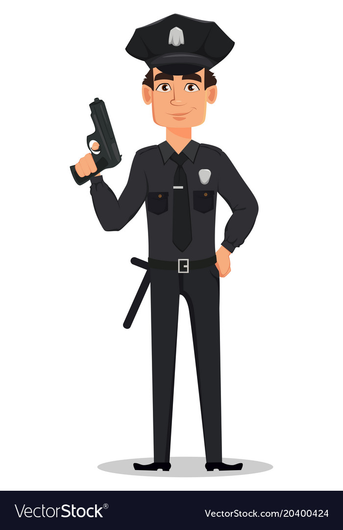 Police officer policeman Royalty Free Vector Image