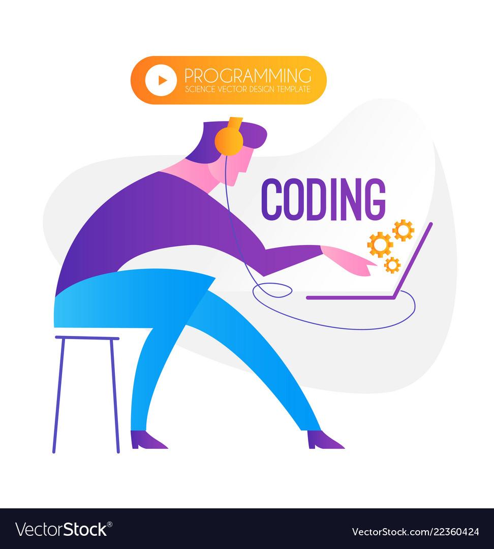 Programming coding programmer at work