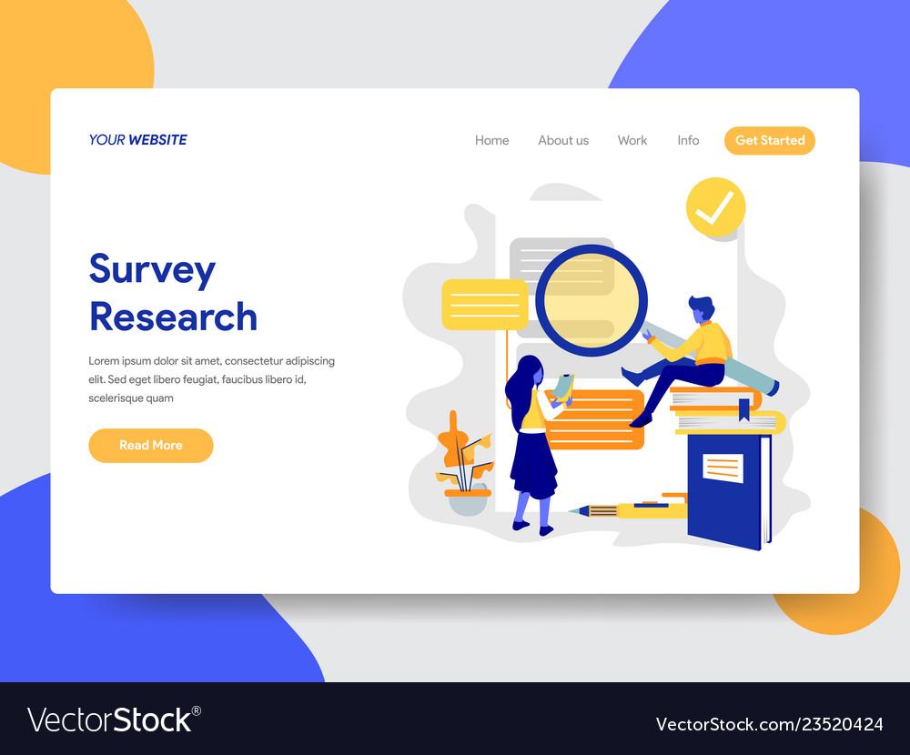Survey research concept