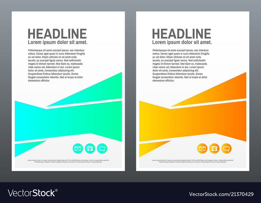 Brochure design template bright shapes on white