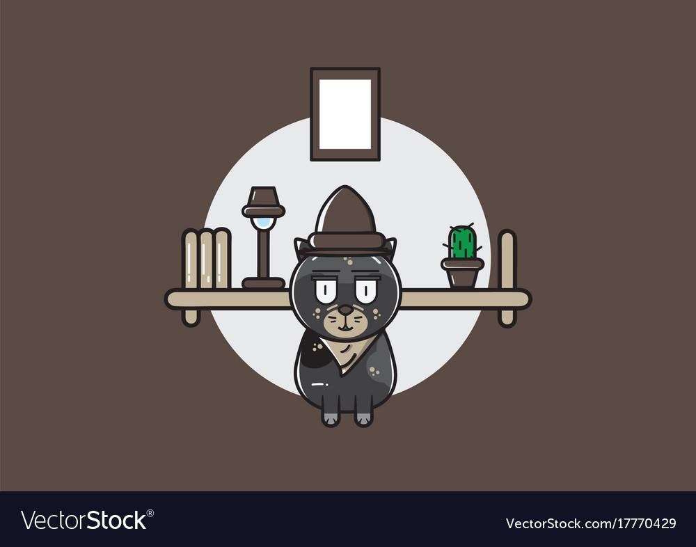Cute inspectur cat