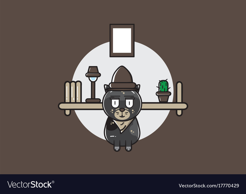 Cute inspectur cat vector image