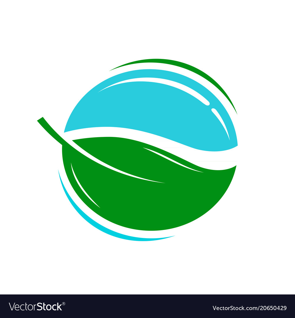 Environmentally friendly product logo or icon