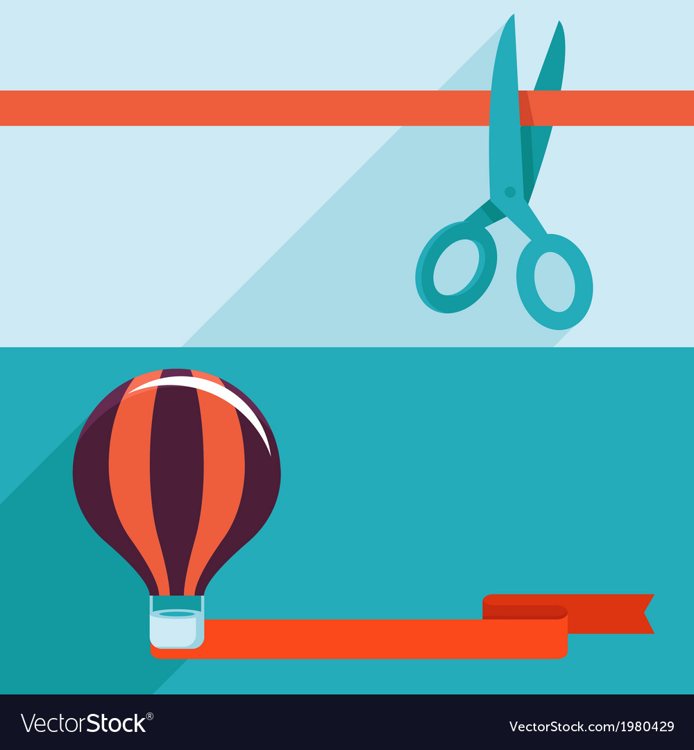 Opening and launching concept in flat style vector image