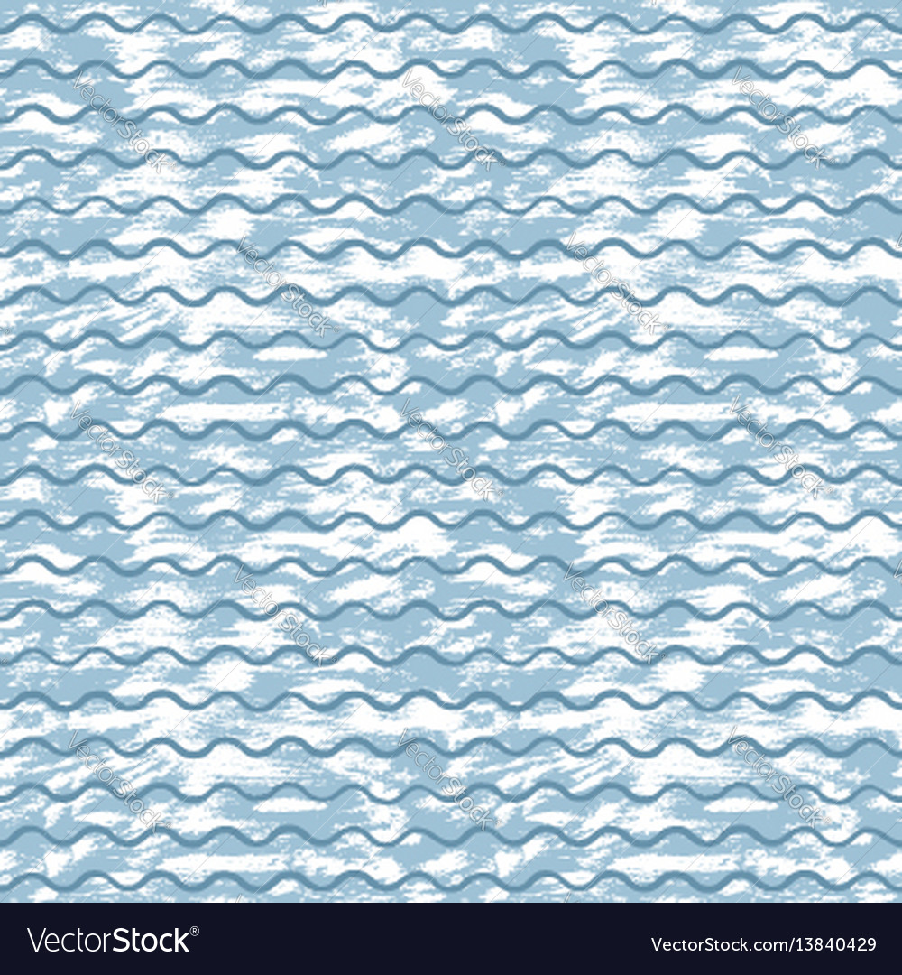 Sea background with blue waves and white strokes
