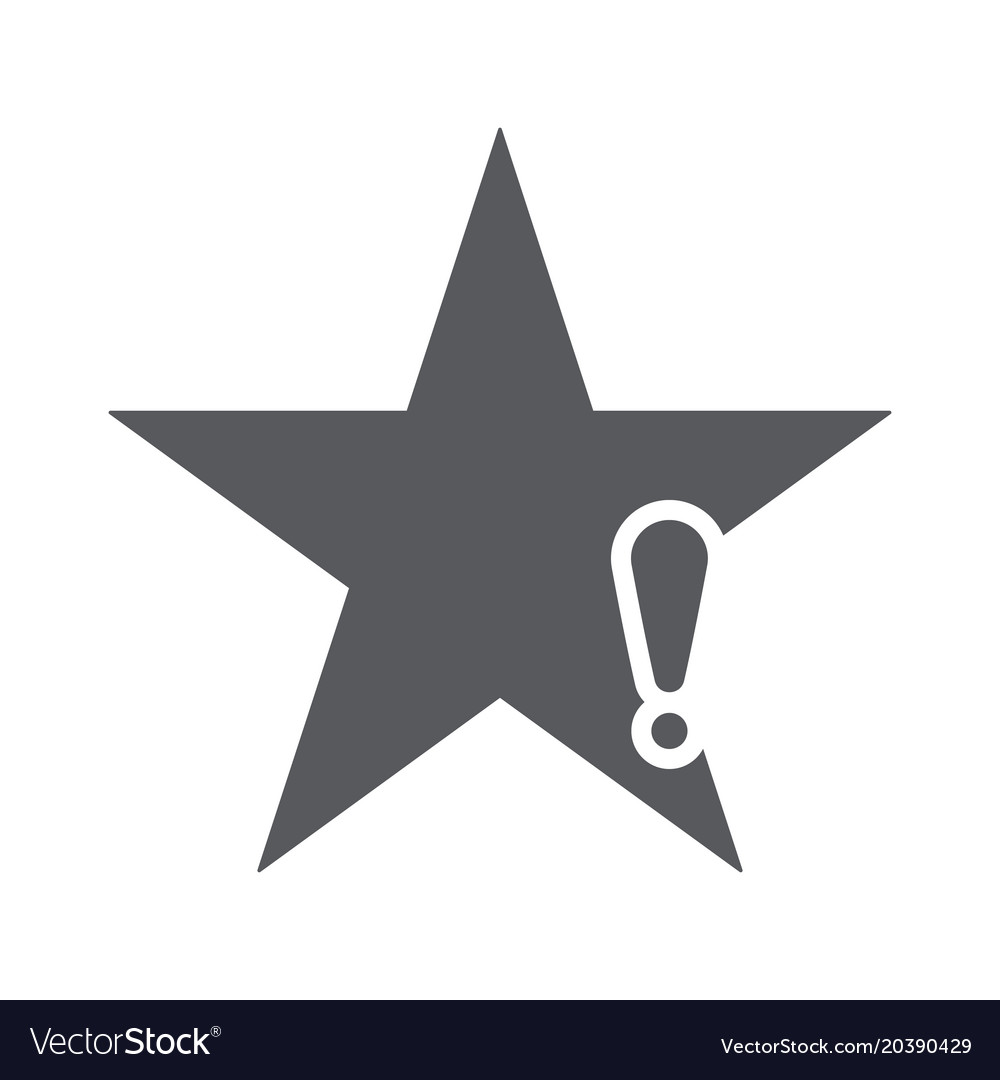 Star icon with exclamation mark