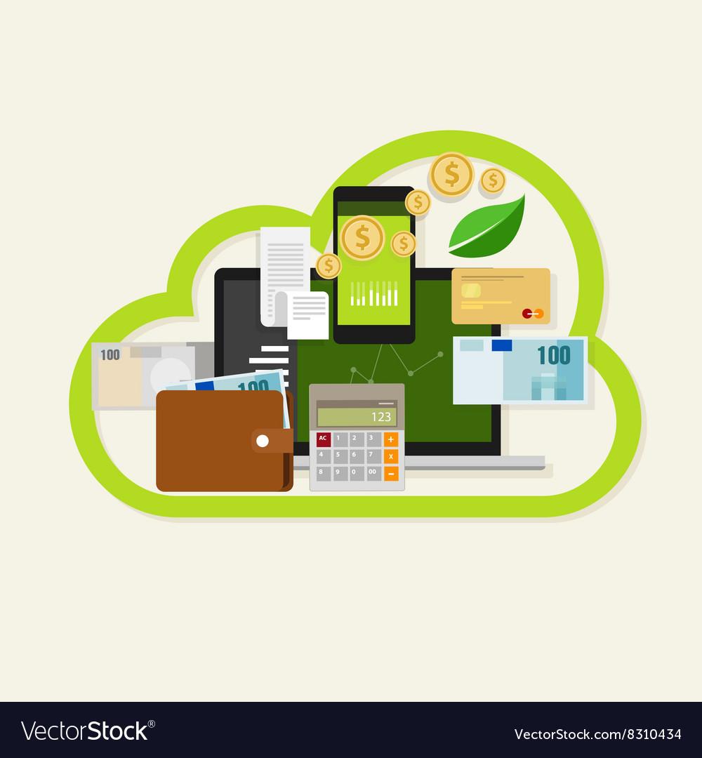 Cloud financial money management online service