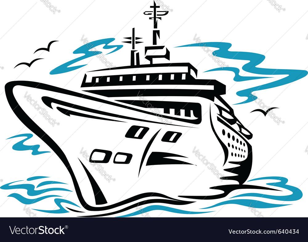 cruise ship royalty free vector image vectorstock rh vectorstock com ship victoria ship victory 1