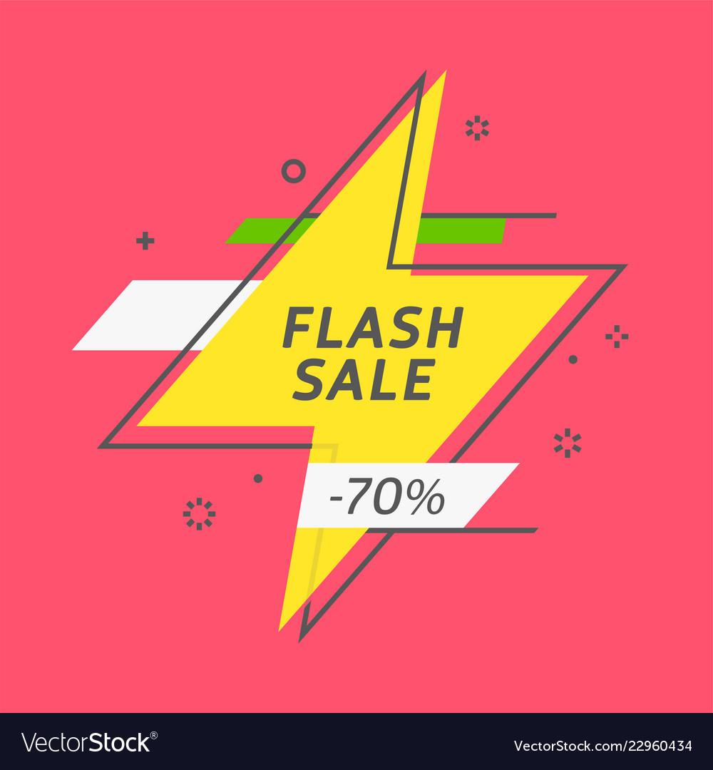 Flash ribbon banner scroll price tag sticker