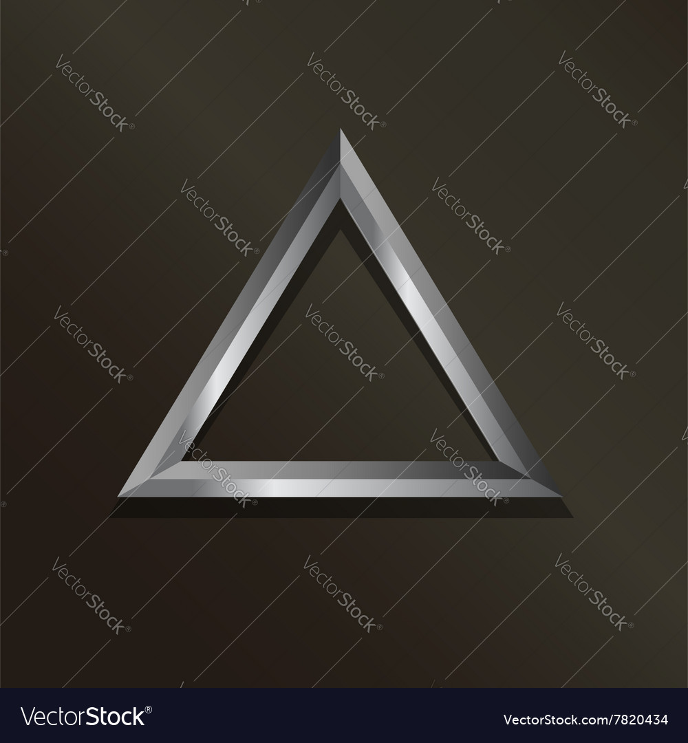 Metal silver triangle logo