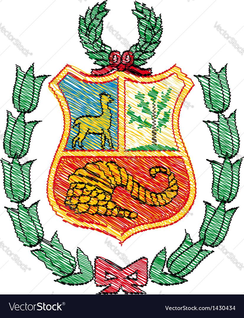 Peruvian coat of arms vector image