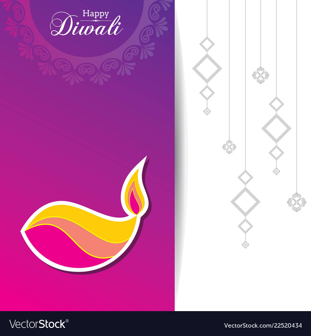 Poster for happy diwali with beautiful design