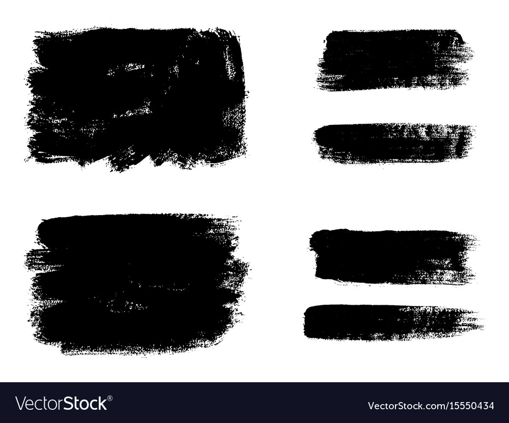 0d9e07acfb3b Set of black paint ink brush strokes brushes Vector Image