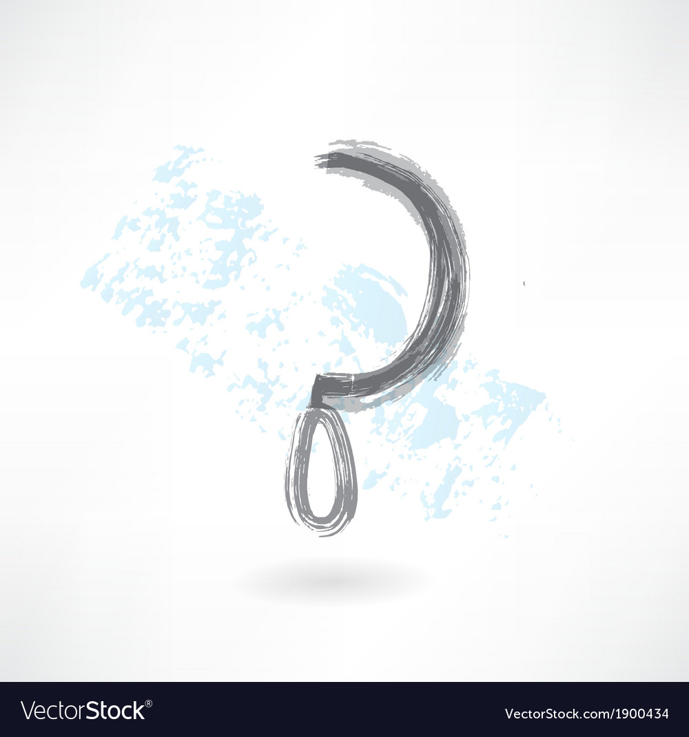 Sickle grunge icon vector image