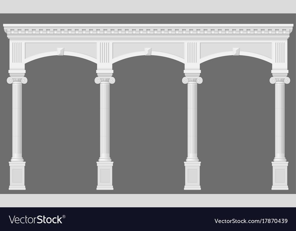 Antique white arcade