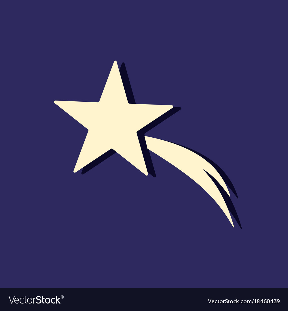 christmas star icon in the night sky royalty free vector rh vectorstock com night sky vector tutorial night sky vector wallpaper