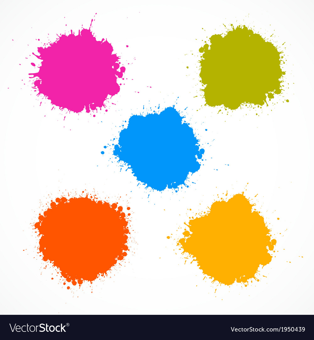 Colorful Stains Blots Splashes Set