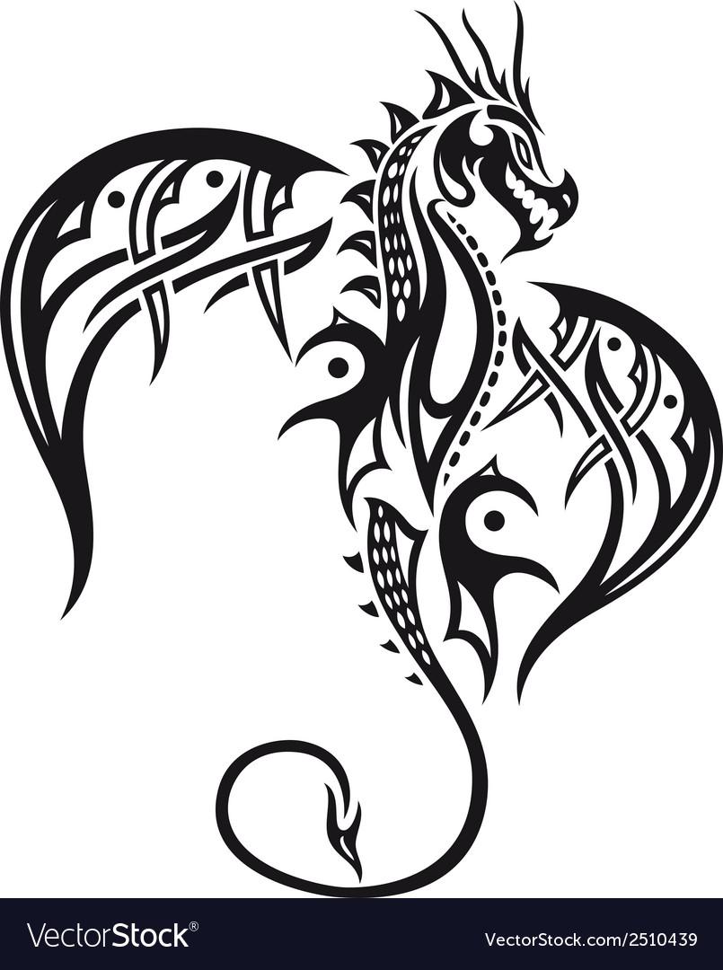 Dragon wings vector image