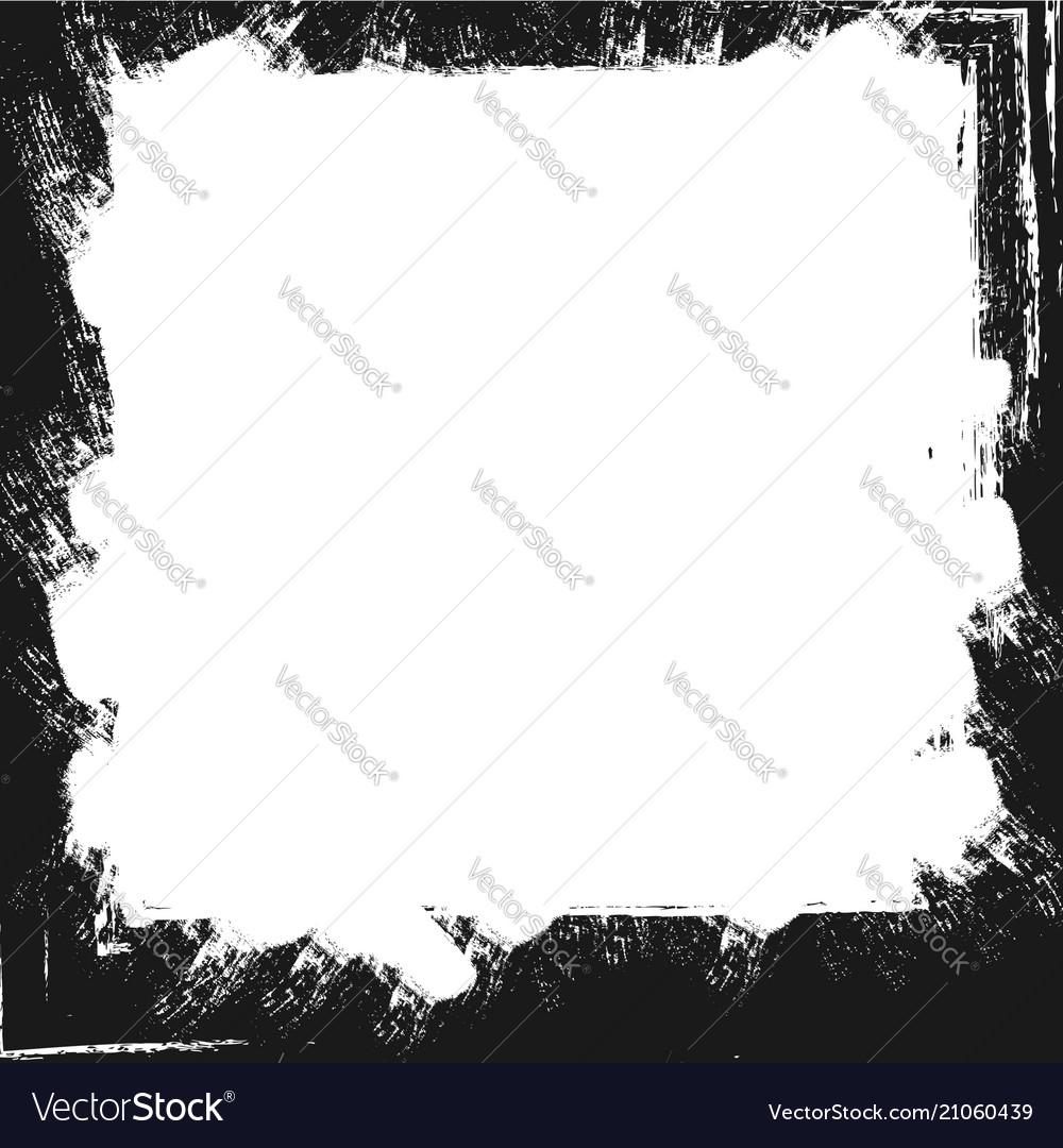 Grunge paint strokes frame
