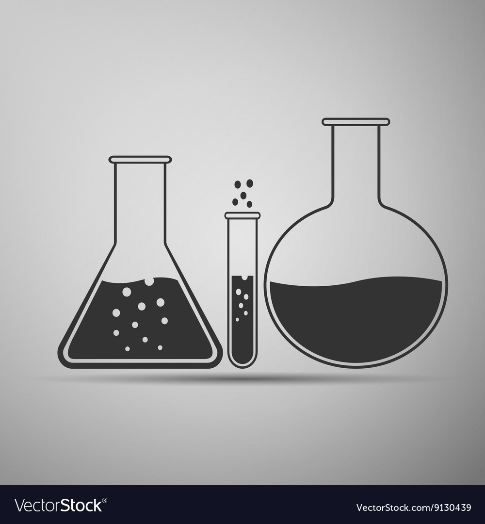 Laboratory glassware icon