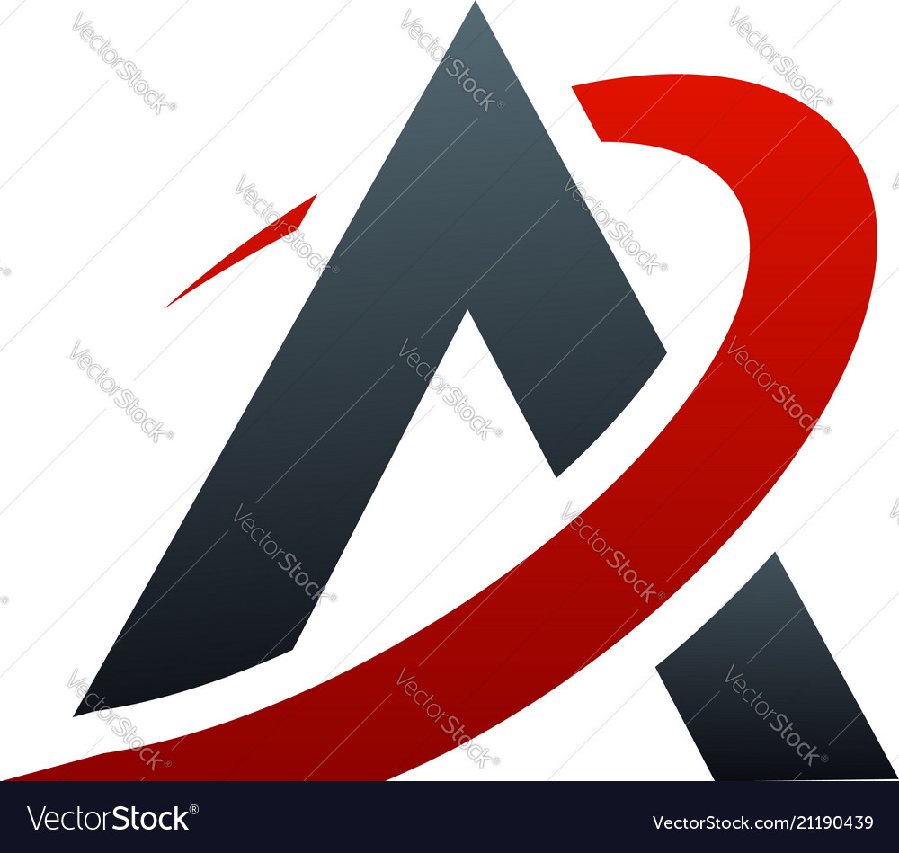 Letter a logo design concept template