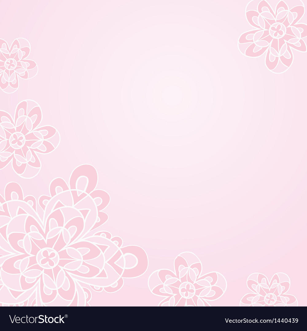 Light Pink Floral Card Template Royalty Free Vector Image