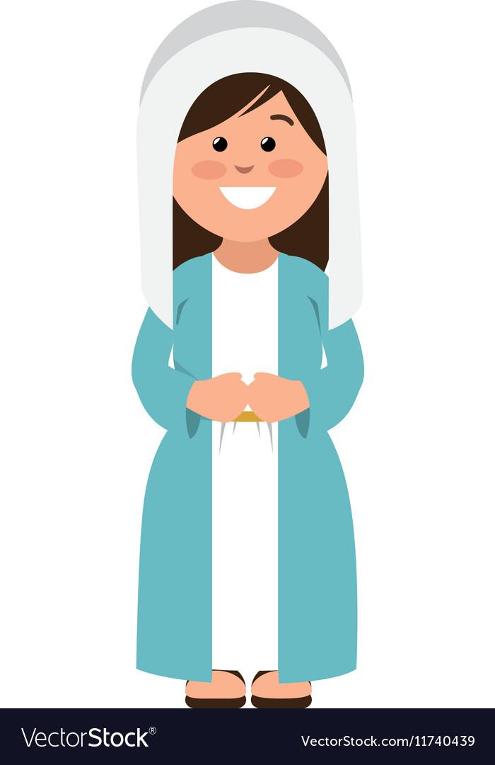 Mary vigin manger character